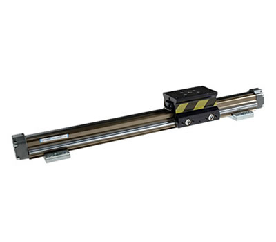 Guided rodless cylinders