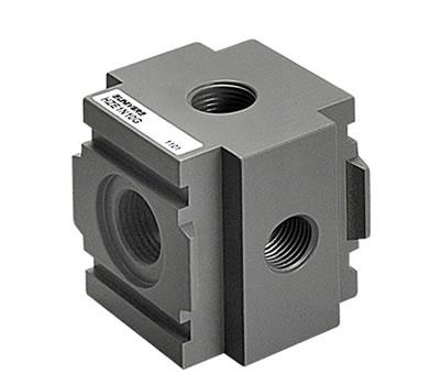 Diverter block