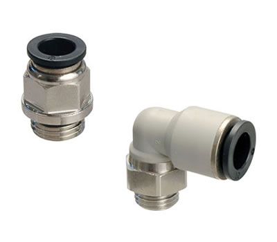 Push-in fittings in technopolymer